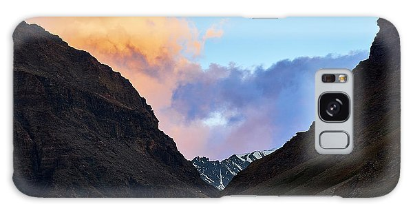 Galaxy Case featuring the photograph Early Morning Clouds In Sarchu by Whitney Goodey