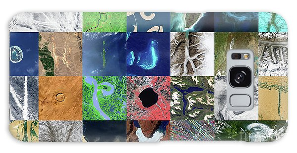 Earth From Space Galaxy Case - Earth Alphabet From Space by Delphimages Photo Creations