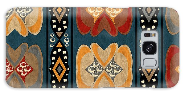 East African Heart And Diamond Stripe Pattern Galaxy Case