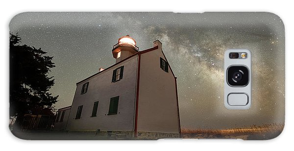 Board Walk Galaxy Case - East Point Lighthouse Under The Milky Way  by Michael Ver Sprill