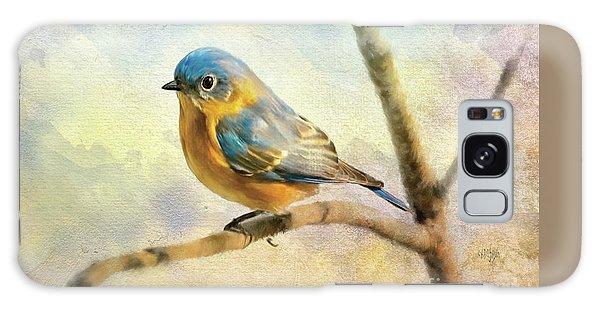 Eastern Bluebird Galaxy Case - Eastern Bluebird On A Bluebird Day by Lois Bryan