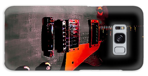 Galaxy Case featuring the digital art Ebony Relic Guitar Hover Series by Guitar Wacky