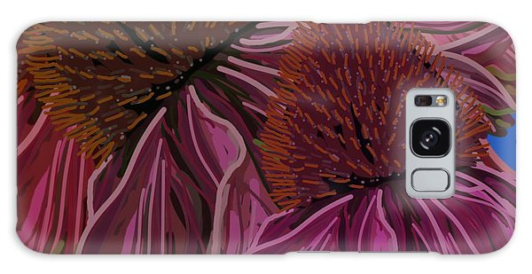 Echinacea Flower Blues Galaxy Case
