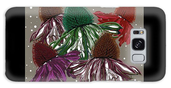 Echinacea Flowers Dance Galaxy Case