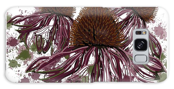 Echinacea Flowers Line Galaxy Case