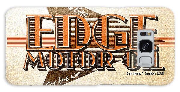 Motor Galaxy Case - Edge Motor Oil Tin Sign by Jorgo Photography - Wall Art Gallery