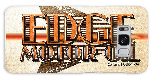 Old Car Galaxy Case - Edge Motor Oil Tin Sign by Jorgo Photography - Wall Art Gallery