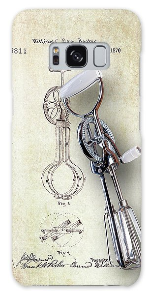 Eggs Galaxy Case - Eggbeater With Antique Eggbeater Patent by Tom Mc Nemar