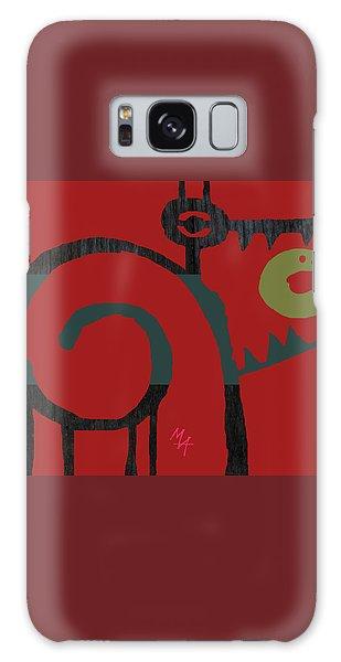 Galaxy Case featuring the digital art Eggeater by Attila Meszlenyi