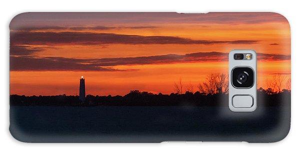 Egmont Key Lighthouse Sunset Galaxy Case