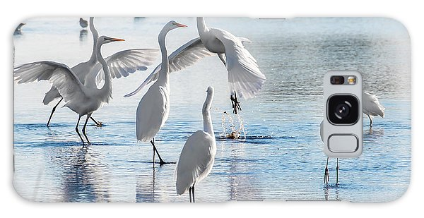 Galaxy Case featuring the photograph Egret Ballet 1400 by Donald Brown