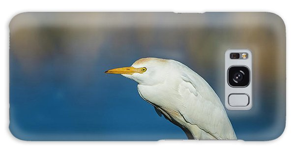 Egret On A Stick Galaxy Case