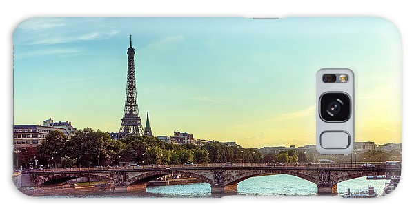 Angle Galaxy Case - Eiffel Tower And Seine River Panoramic by Hipgnosis