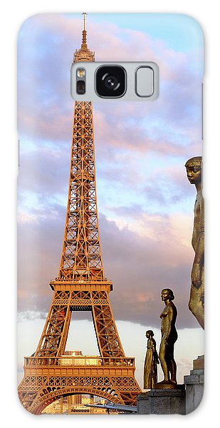 Eiffel Tower At Sunset Galaxy Case
