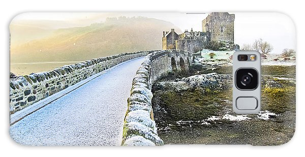 Scottish Galaxy Case - Eilean Donan Castle In Winter by Javen