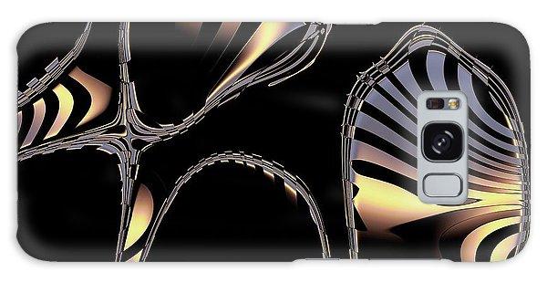 Elegant Black Fractal 1 Galaxy Case