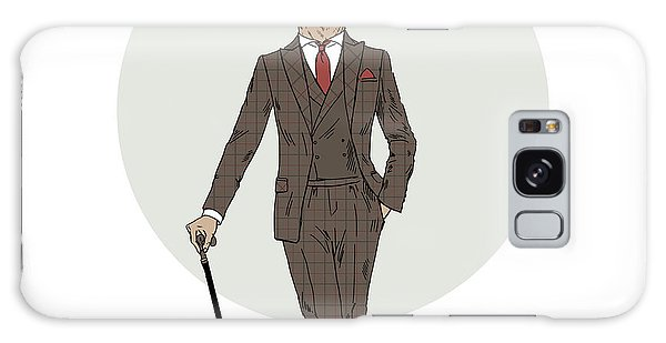 Furry Galaxy S8 Case - Elegant Deer Gentleman With Walking by Olga angelloz
