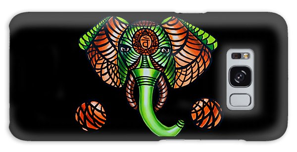 Elephant Head Painting, Sacral Chakra Art, African Tribal Animal Artwork, Zentangle Art Galaxy Case
