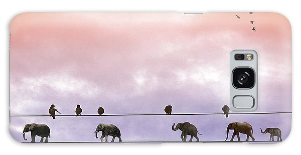 Elephants On The Wires Galaxy Case