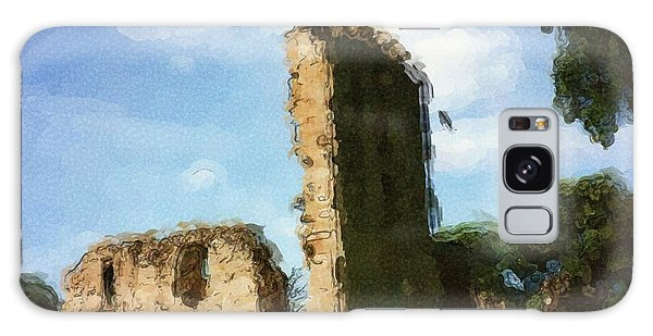 Elgin Cathedral Ruins Painting Galaxy Case