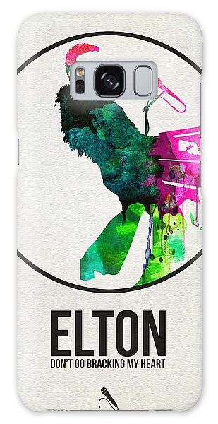 Classic Rock Galaxy Case - Elton Watercolor Poster by Naxart Studio