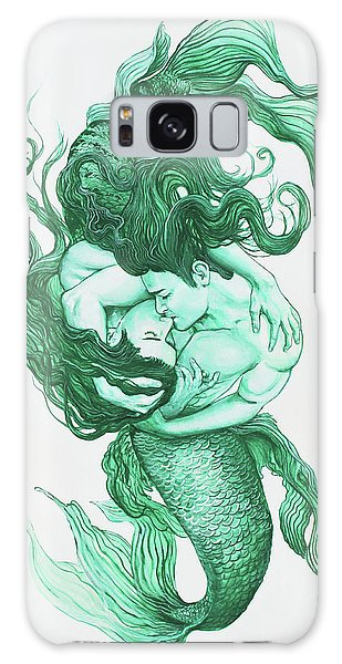Embracing Mermen Galaxy Case
