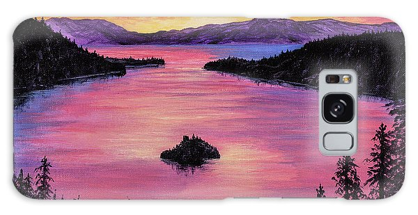 Emerald Bay Sunset Galaxy Case