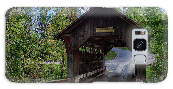 Emily's Covered Bridge In Stowe Vermont Galaxy Case