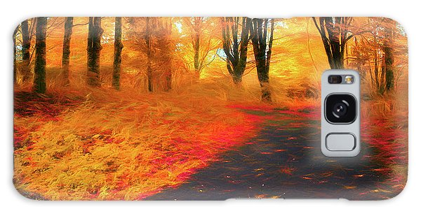 Emmaus Community Park Path - Colors Of Fall Galaxy Case