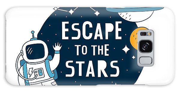 Escape To The Stars - Baby Room Nursery Art Poster Print Galaxy Case