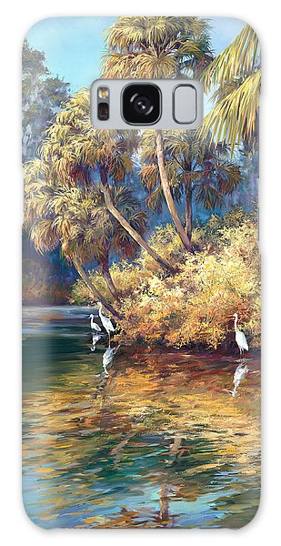 Old Florida Galaxy Case - Estero River by Laurie Snow Hein