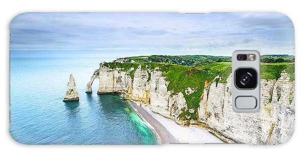 Tide Galaxy Case - Etretat Aval Cliff, Rocks And Natural by Stevanzz