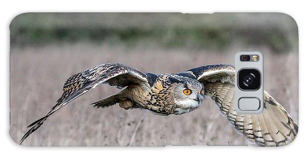 Eurasian Eagle Owl In Flight Galaxy Case