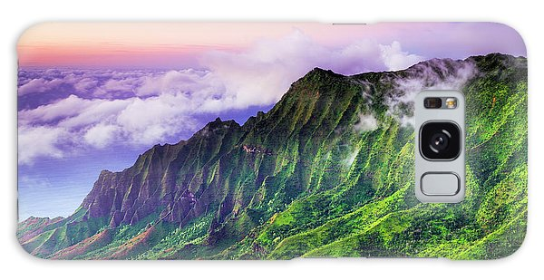 Chasm Galaxy Case - Evening Light On The Kalalau Valley by Russ Bishop