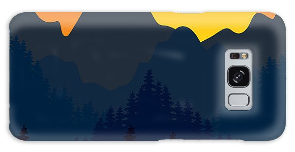 Majestic Galaxy Case - Evening Mountains Forest by Zolotnyk Mariana