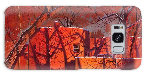 Tranquil Galaxy Case - Evening Shadows On A Round Taos House by Art West