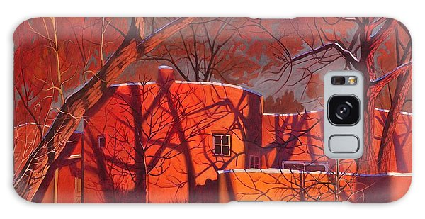 Evening Galaxy Case - Evening Shadows On A Round Taos House by Art West