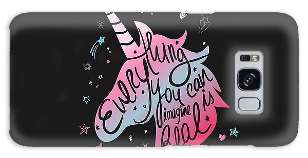 Everything You Can Imagine Is Real - Baby Room Nursery Art Poster Print Galaxy Case