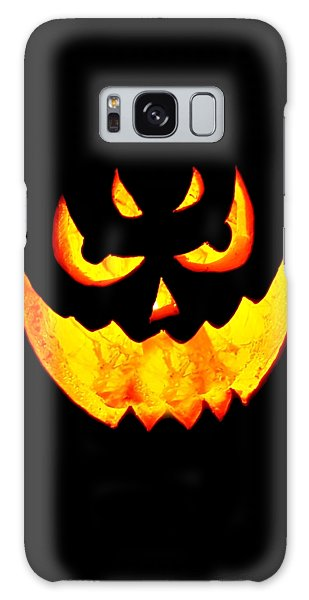 Evil Glowing Pumpkin Galaxy Case