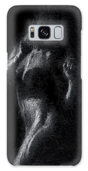 Galaxy Case featuring the digital art Exhale by ISAW Company