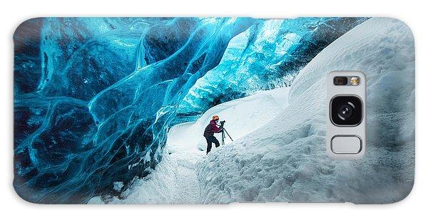 Bright Colors Galaxy Case - Explorer Inside Ice Cave At Vatnajokull by Bon Appetit