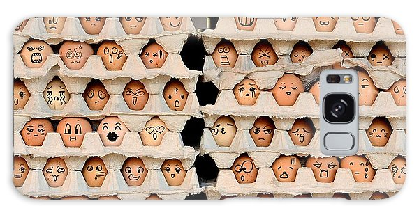 Eggs Galaxy Case - Faces On The Eggs. Differences Faces by Kemal Taner
