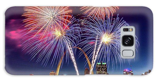 Galaxy Case featuring the photograph Fair St. Louis Fireworks 6 by Matthew Chapman