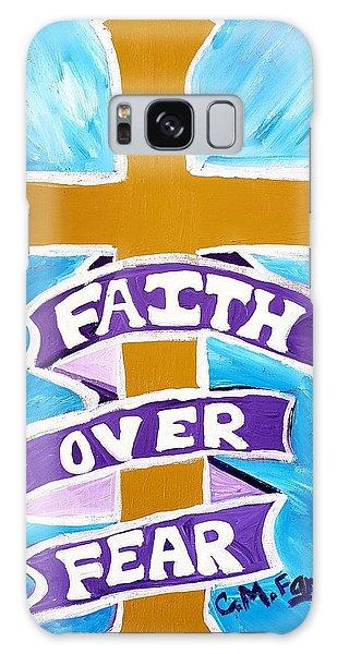 Faith Over Fear Cross  Galaxy Case