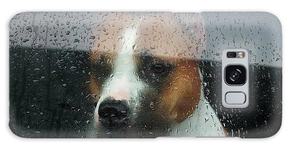 Anguish Galaxy Case - Faithful Dog Sitting In A Car And by Dimedrol68