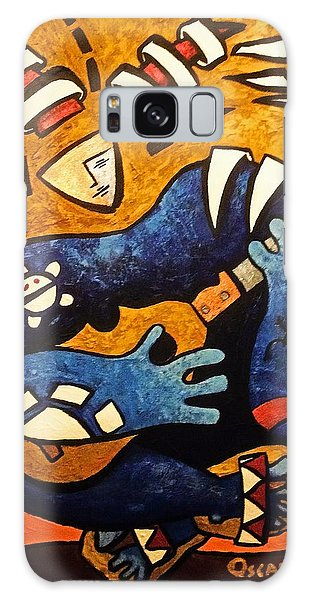 Galaxy Case featuring the painting Fajardo Dreaming by Oscar Ortiz