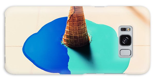 Tasty Galaxy Case - Fake Ice Cream Flows Down On The Floor by Evgeniya Porechenskaya