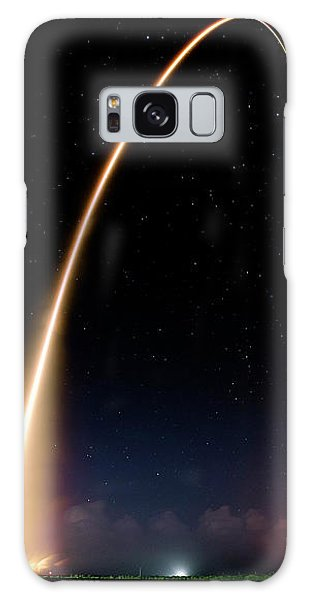 Galaxy Case featuring the photograph Falcon 9 Rocket Launch Outer Space Image by Bill Swartwout Fine Art Photography