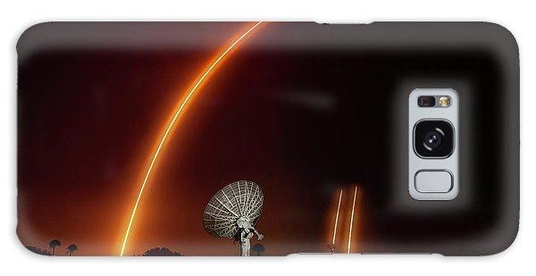 Falcon Heavy Night Launch And Landing Galaxy Case