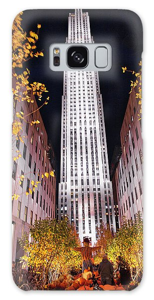 Fall At Rockefeller Center Galaxy Case